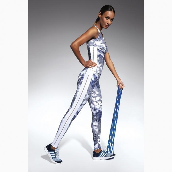 cfec6a11f70 Fitness legíny Code white-grey BAS BLEU (spodná bielizeň)